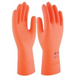 GUANTE LATEX NAT.FLOCADO PROTEX HD35 T08