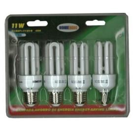 LAMPARA AHORRO T3 3U GBM5318-11W PACK-4