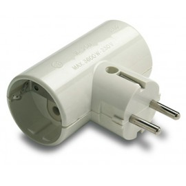 ADAPTADOR 1302 DOBLE TT CERAMIC.16A-250V