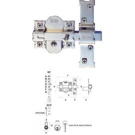 CERROJO 01100 301-RP/80 50MM NIQUEL COMP