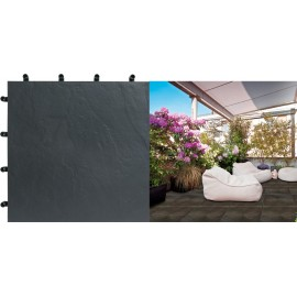 Loseta Blacknite Polipropi.40X40 Negro
