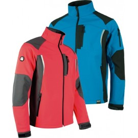 Chaqueta Workshell S9495 Rojo/gris T-S