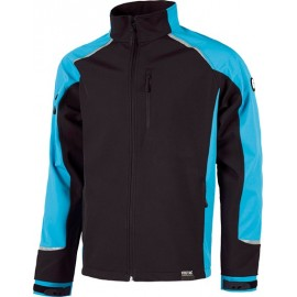 Chaqueta Workshell S9498 Ngr/azul T-S