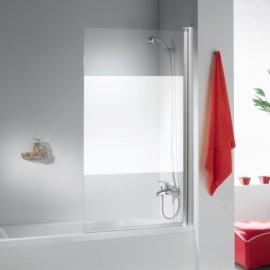 Mampara de bañera VIVA aluminio/serigrafiado 85cm izquierda
