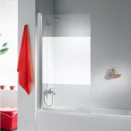 Mampara bañera VIVA Aluminio/Serigrafiado 100cm Derecha